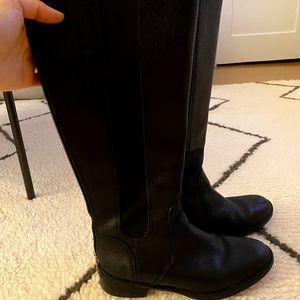 Tory Burch Riding Tall Boots Black 8.5